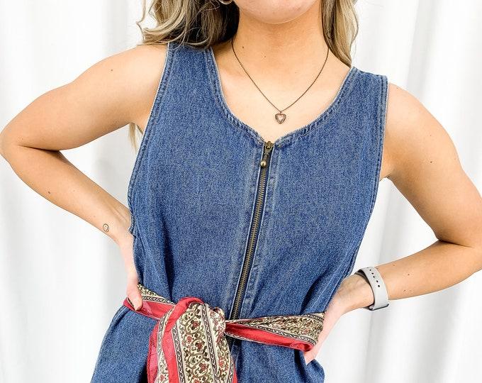 Vintage Denim Dress - M