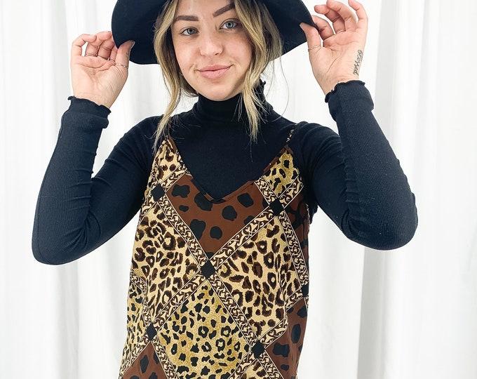 Vintage Leopard Slip Dress - L