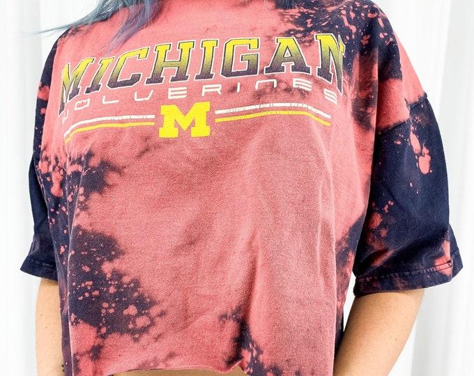 University of Michigan Acid Wash Crop Tee - XL