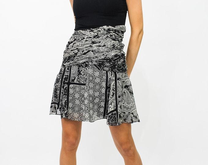 Vintage Jacques Molko Silk Skirt - 38