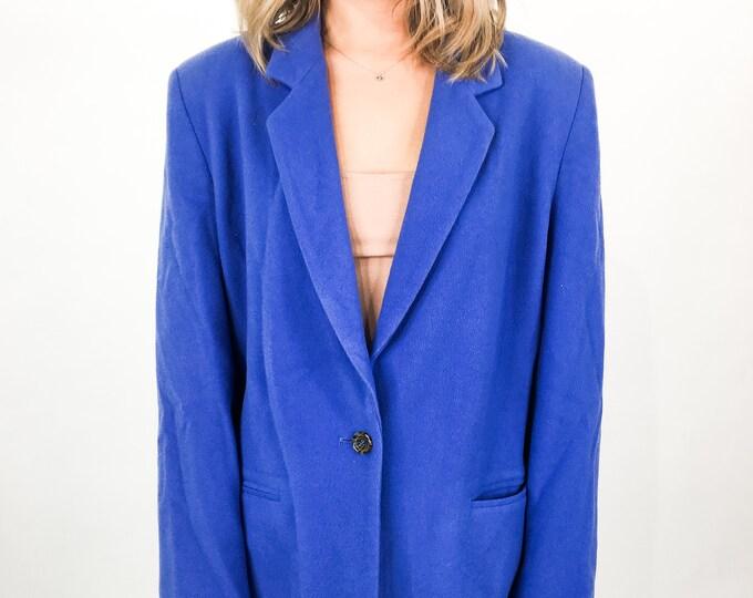 Vintage Blue Blazer - L