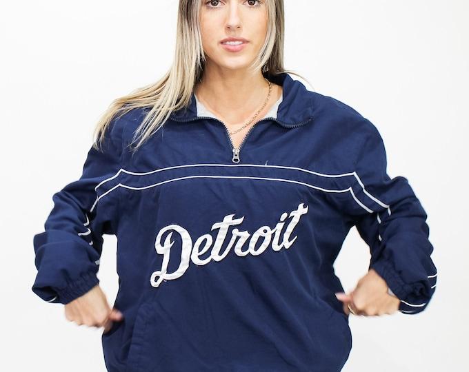 Vintage Detroit Tigers Windbreaker Jacket - L