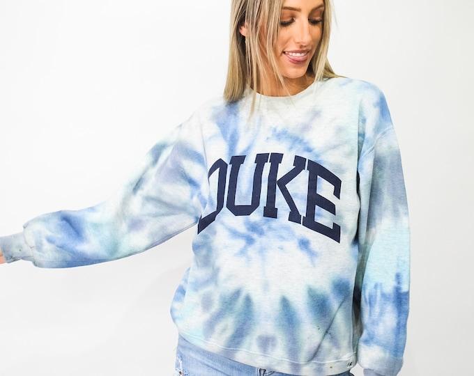 Vintage Duke University Tie Dye Sweatshirt - L