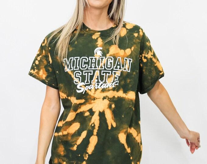 Michigan State University Tie Dye Tee - L