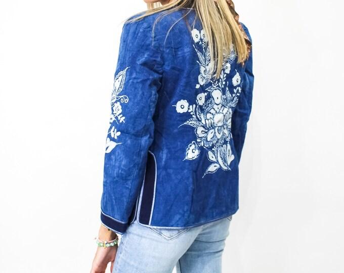 Vintage Boho Jacket - M