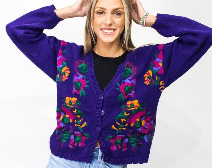 Vintage Cardigan Sweater - S