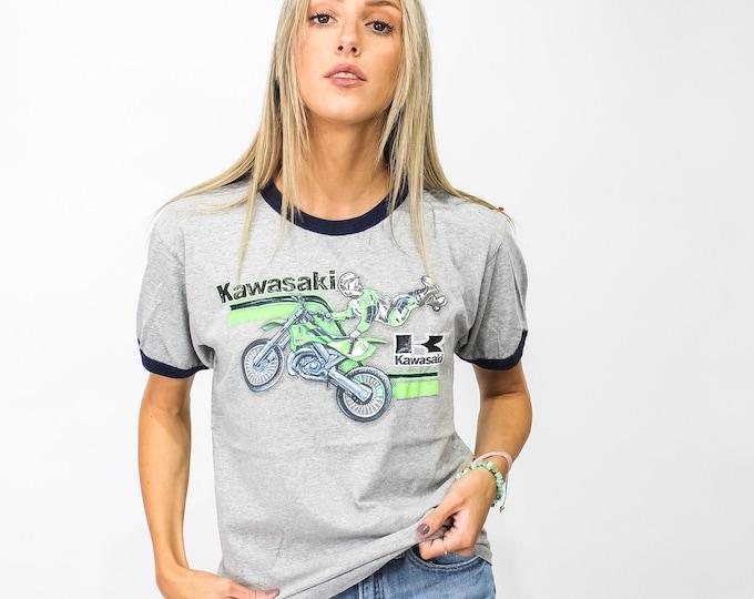 Vintage Kawaskai Motorcycle Tee - L
