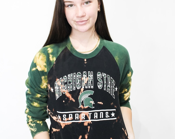 Michigan State University Tie Dye Sweatshirt - S