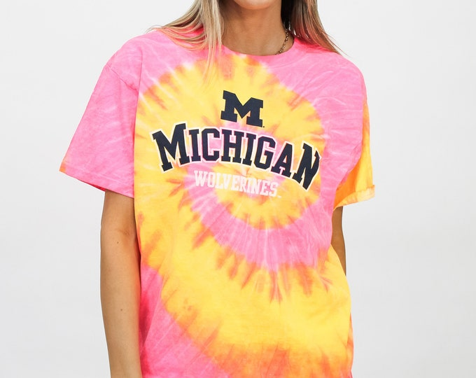 University of Michigan Tie Dye Tee - M