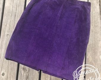 Vintage Phoenix Purple Suede Skirt