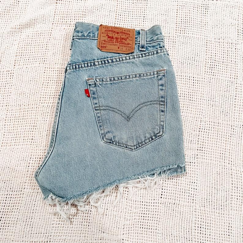 Size 30 0277 Levi/'s 505 Vintage Cut Off Shorts