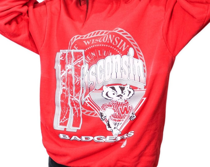 Vintage University of Wisconsin Sweatshirt - XL