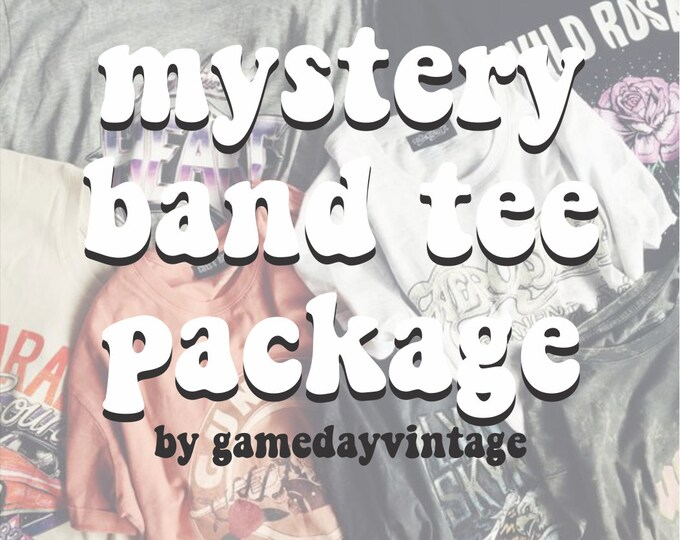 Mystery Band Tee Package (Includes One Hand Picked Band Tee)