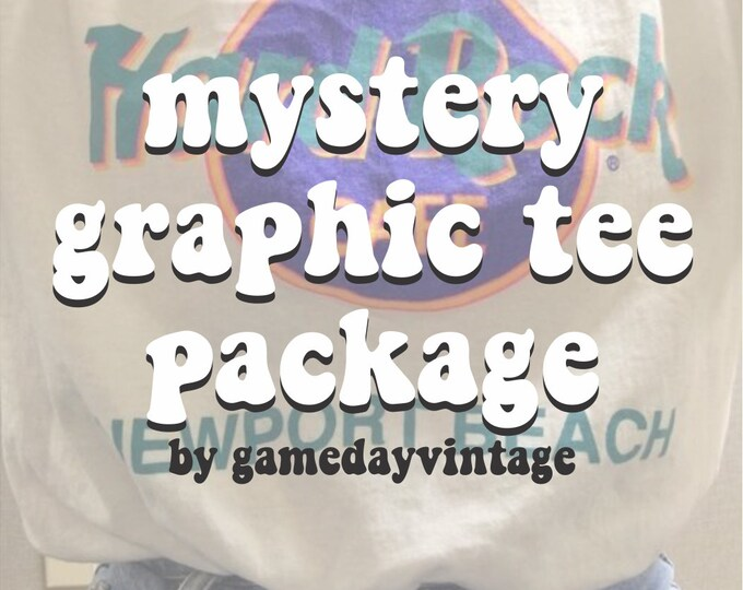 Mystery Graphic Tee Package (Includes One Hand Picked Graphic Tee)