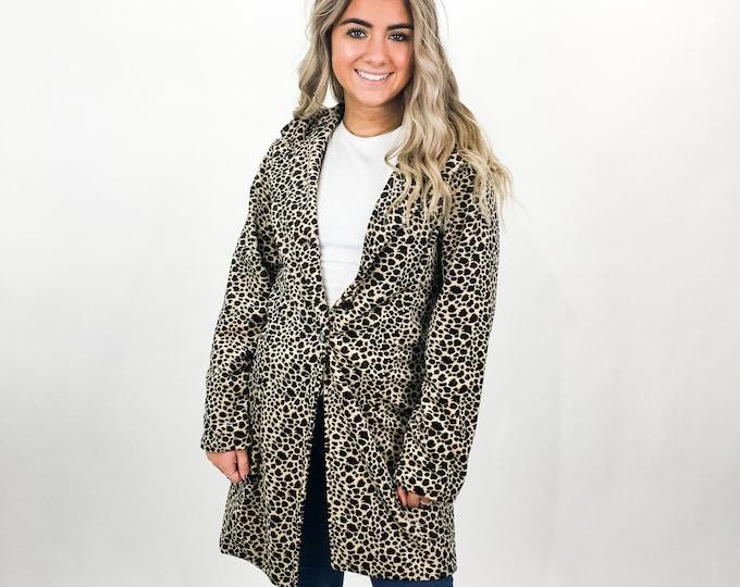90s Cheetah Print Coat - S