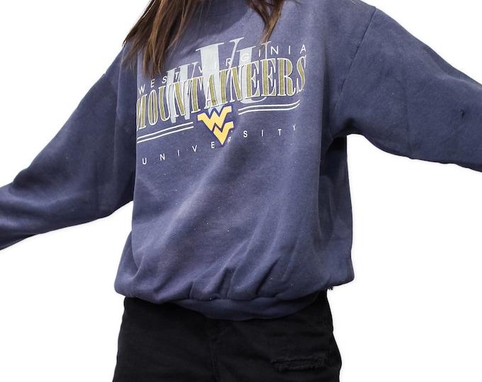 West Virginia University Vintage Sweatshirt   Size S