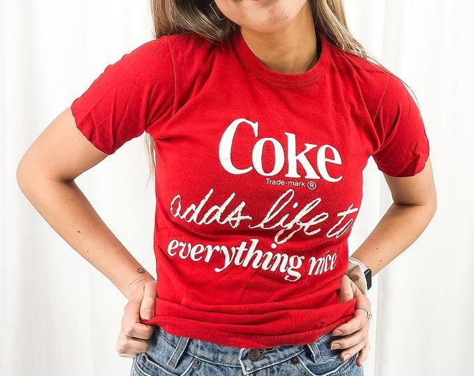 Vintage Coca Cola Tee -M //Coke Adds Life