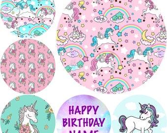 UNICORN Cupcake Ricepaper Toppers