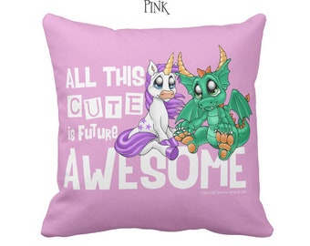 Baby Unicorn & Dragon Throw