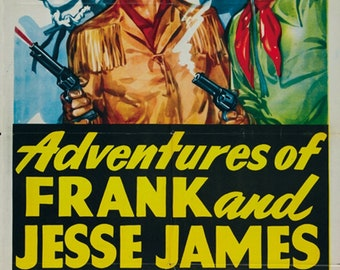 cult western movie poster print 7 1948 Adventures of Frank and Jesse James
