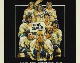58f675c4f01 Slap shot 1977 Paul Newman movie poster reprint 19x12.5 inches