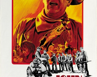 The Cowboys (1972) John Wayne movie poster reprint 24x36 inches