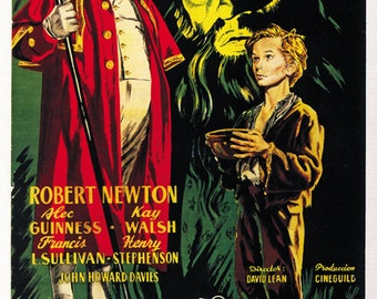 Oliver Twist (1948) Alec Guinness Robert Newton movie poster reprint 19x12.5 inches