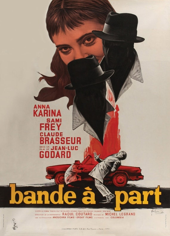 Pierrot Le fou Jean-Paul Belmondo Jean-Luc Godard movie poster reprint 24x32
