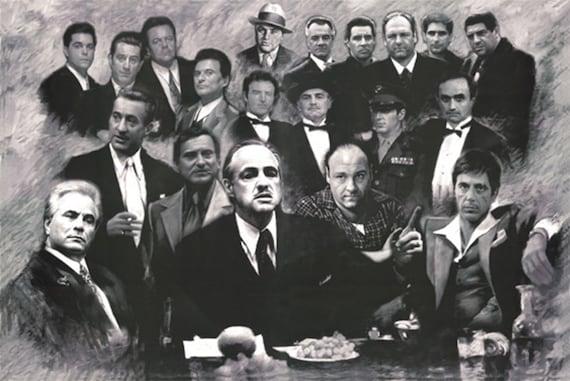 Scarface Sopran Pate gute Kerle Gotti Mafia collage Plakat 24   Etsy