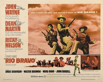 Rio Bravo (1959)John Wayne cult western movie poster reprint 19x12.5 inches