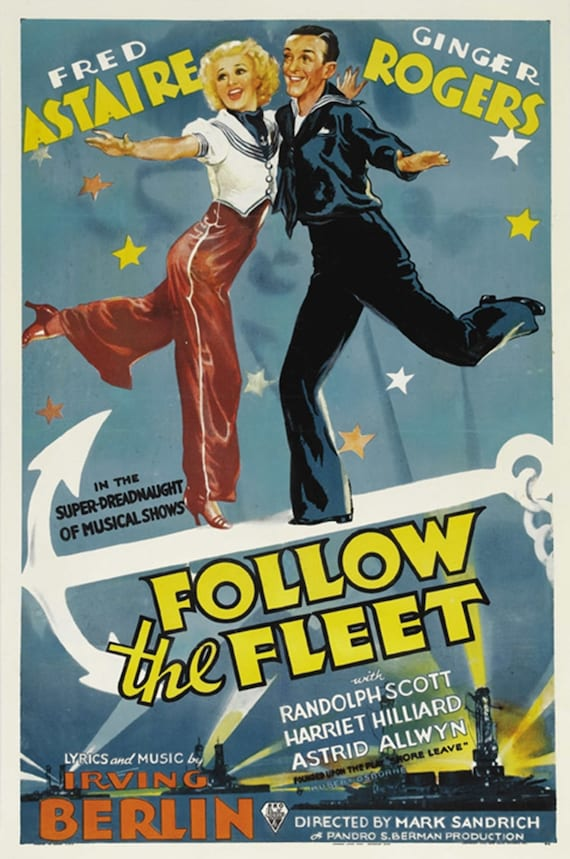 Follow The Fleet 1936 Fred Astaire Ginger Rogers Cult Movie Etsy