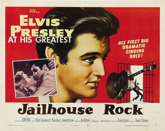 Elvis Presley Jailhouse Rock 1957 movie poster reprint 19x12.5 inches #2
