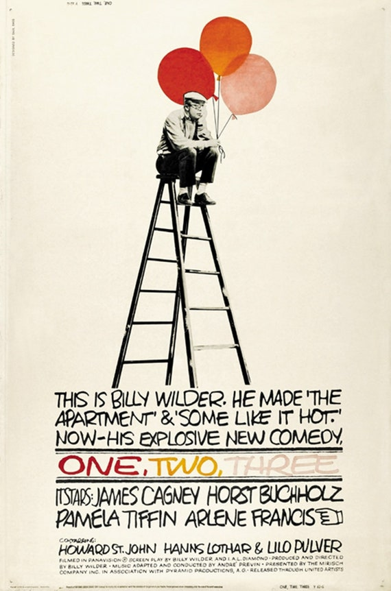 1961 Two One Three James Cagney movie poster #2 24x36 inches
