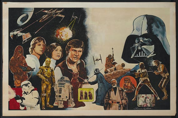 Reprint Star Wars Movie Poster 13 x 19