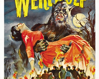 The Curse of the Werewolf (1961) Cult Horror movie poster reprint 19x12.5 inches