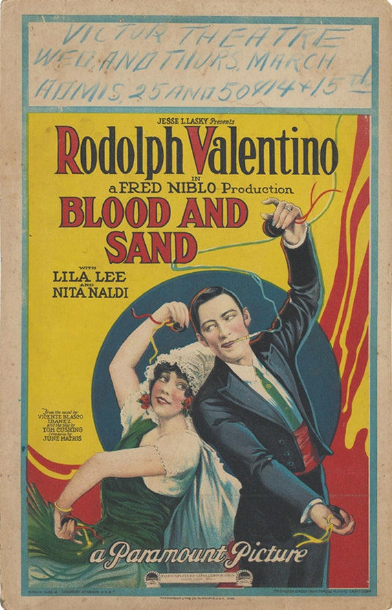 Blood and sand Tyrone Power 1941 cult movie poster print