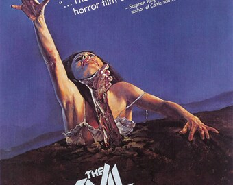 The evil dead 1981 cult horror movie poster reprint 19x12.5 inches