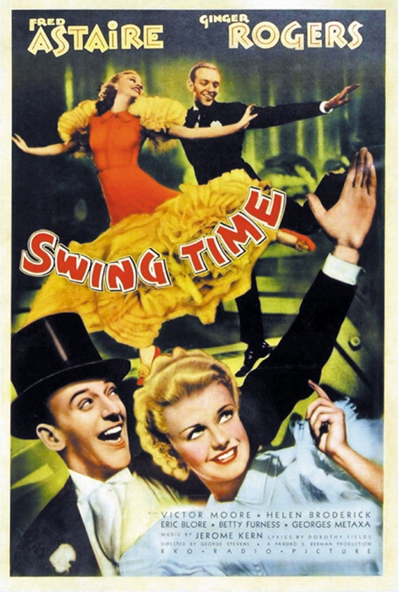Top hat Ginger Rogers Fred Astaire movie poster 24x36 inches