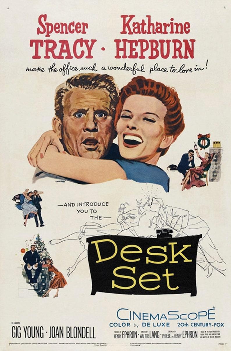 Desk set 1957 Spencer Tracy Katharine Hepburn movie poster image 0