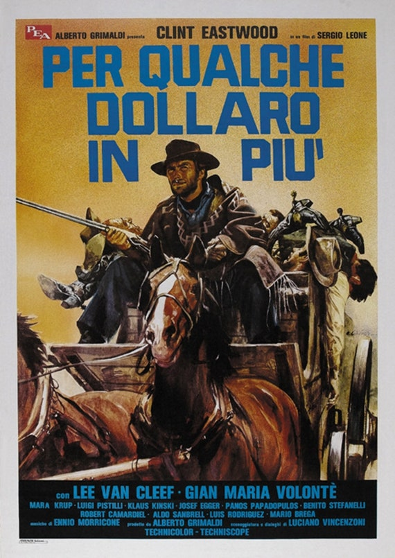 For a few dollars more 1965 Clint Eastwood cult western Movie poster print 5