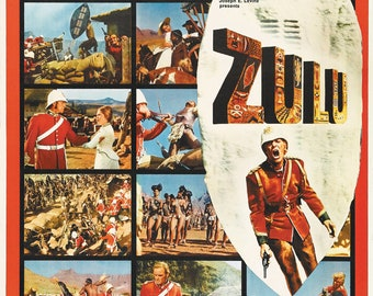 Zulu Michael Caine 1964 cult movie poster reprint 19x12.5 inches