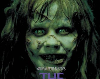The Exorcist (1973) Linda Blair Horror movie poster reprint 19x12.5 inches