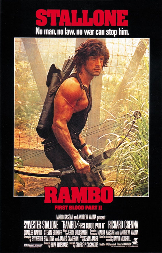 Rambo First Blood Part Ii 1985 Sylvester Stallone Movie Etsy
