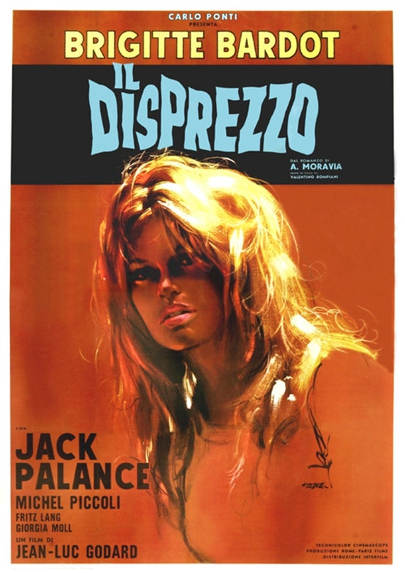 Le mepris Brigitte Bardot Godard Movie poster print #2