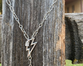 Silver Colored Y Style 19.5 Wanderlust Lariat Necklace