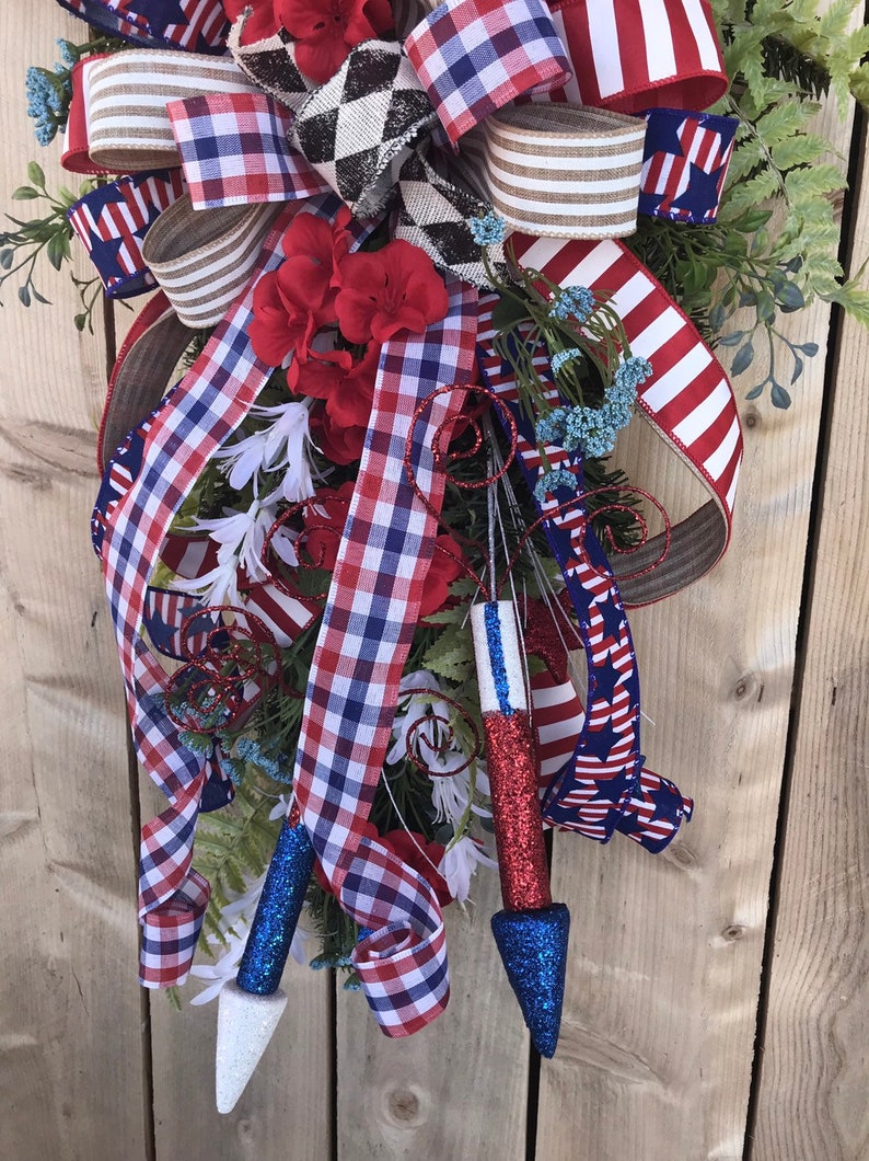 4th of July Wreath,4th of July Door Decor,Memorial Day Wreath,Patriotic Wreath,Memorial Front Door Decor,4th of July Decorations