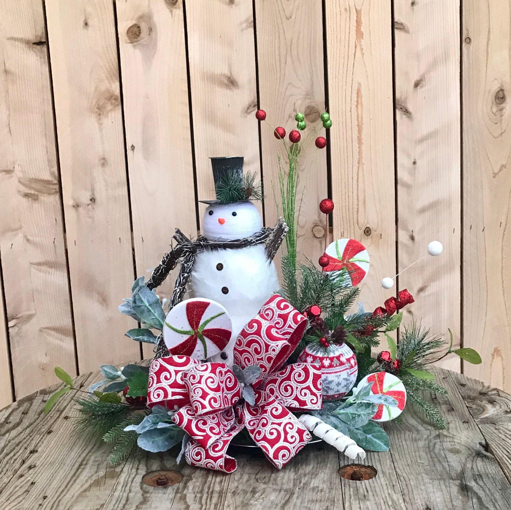 Details about  /Christmas Unique Table Decorations Snowman Showpiece Home Art /& Craft Xmas Party