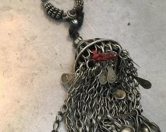 Vintage tassel Tribal fusion pendant