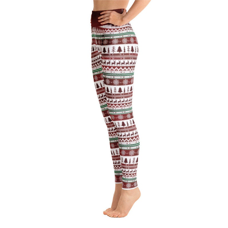 Women/'s Winter Yoga Leggings Ugly Sweater Party Christmas Holiday Nordic