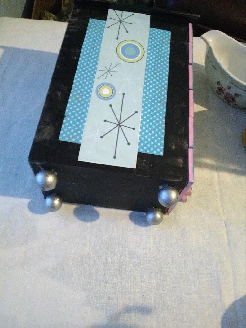Upcycled jewelry box mid century design